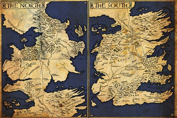 photo relating to Printable Map of Westeros identified as Match of Thrones Printable Westeros Map Classic as a result of