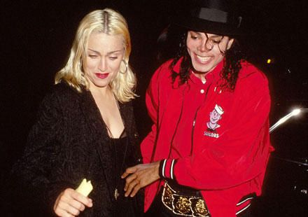 MJ and world famous singer Madonna at the Ivy Restaurant Los Angeles March 18 1991