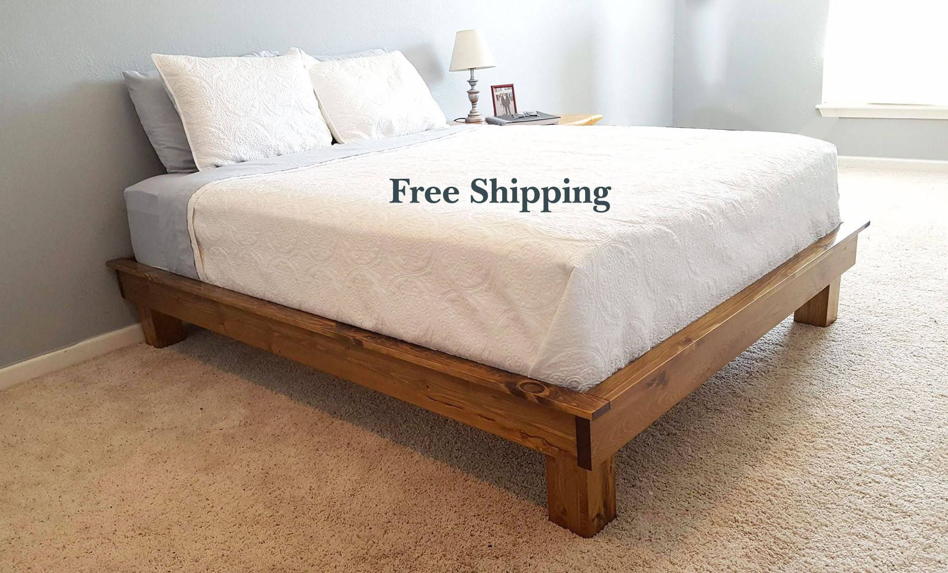 Platform Bed from PeaceLoveWood Solid wood platform bed
