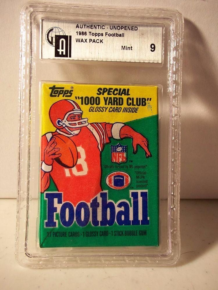 1986 topps football wax pack gai graded mint 9 nfl cards