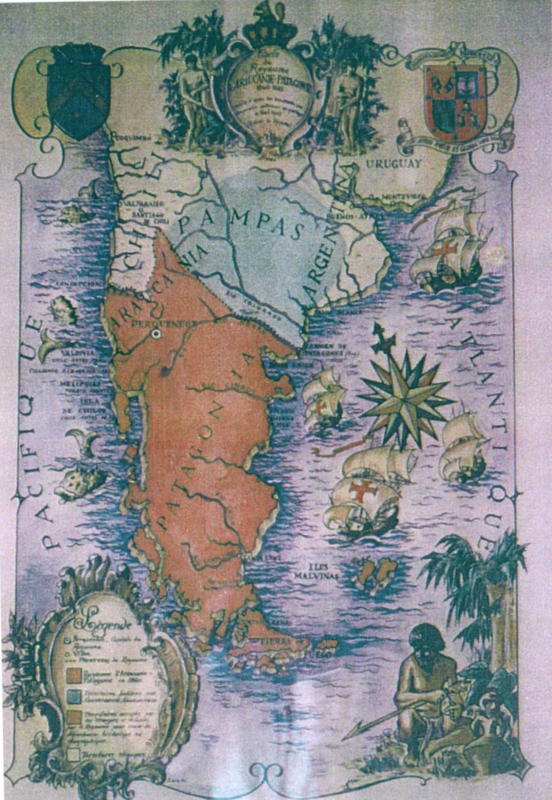 Patagonia Cartina Geografica.Patagonia Y Araucania Geografia Carte Geografiche