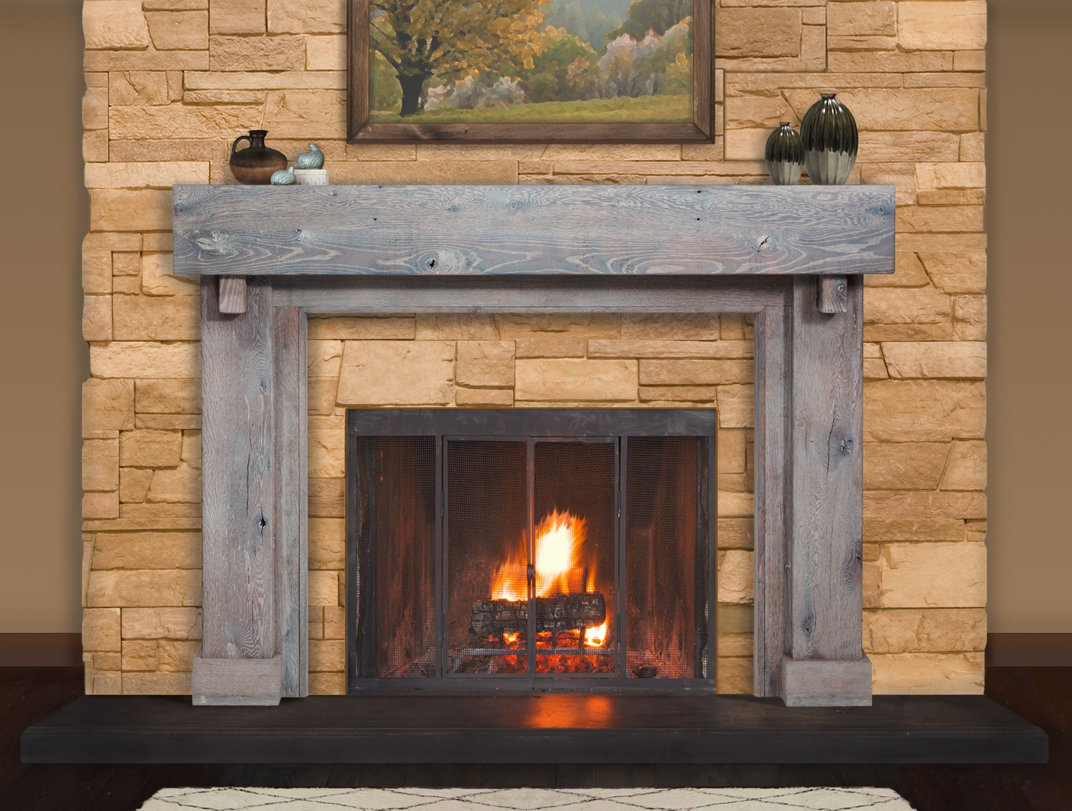 20++ Reclaimed fireplace surround ideas in 20   LivingRoomReference