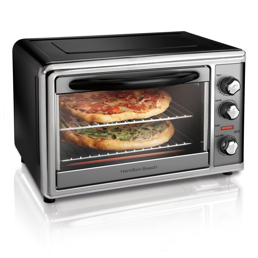 Hamilton Beach Countertop Black Toaster Oven With Convection And