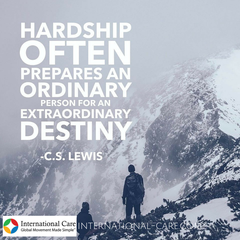 """Hardships In Relationships Quotes: CS Lewis Quote """"Hardship Often Prepares An Ordinary Person"""