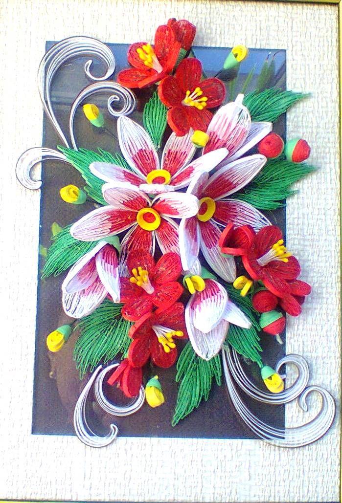 Flora design quilled by svetlana bystrova for Difference design et artisanat