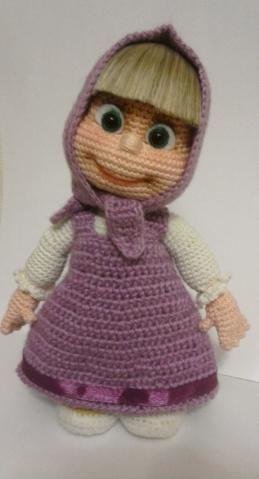 Masha - handmade crochet doll by Ludmila Zhdanova | Crochet doll ... | 479x259