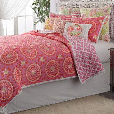 Dream Nest Cotton Quilt Bedding By Dena Home Home Cool Beds Pink Bedrooms