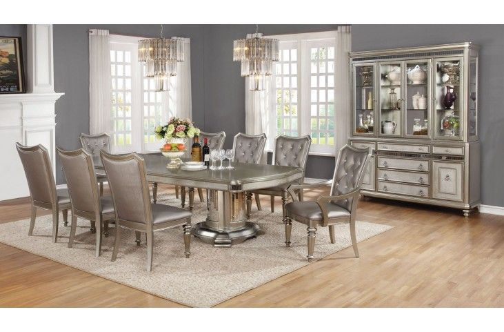 Perfect Danette Metallic Platinum Dining Room Set From Coaster | Coleman Furniture