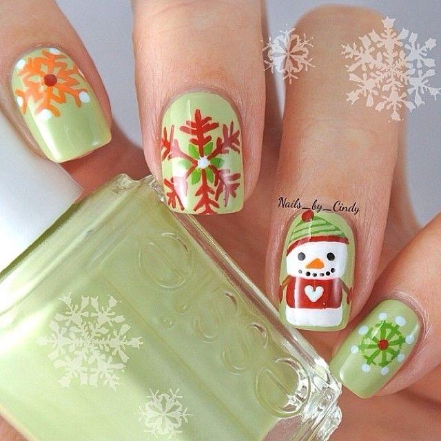 Adorables uñas de invierno navidad | Uñas decoradas < 3 | Pinterest ...