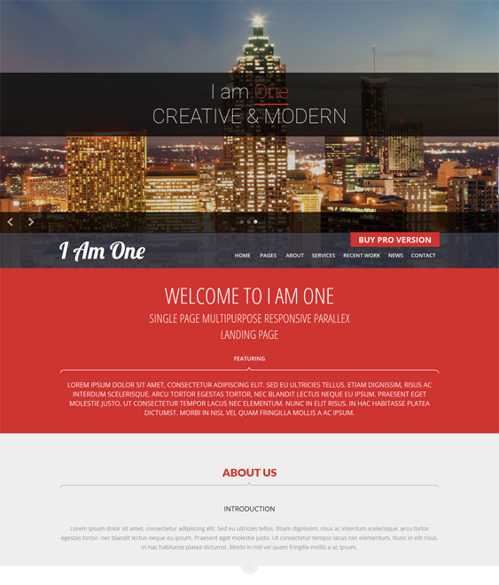 This free parallax WordPress theme offers a responsive layout, a ...