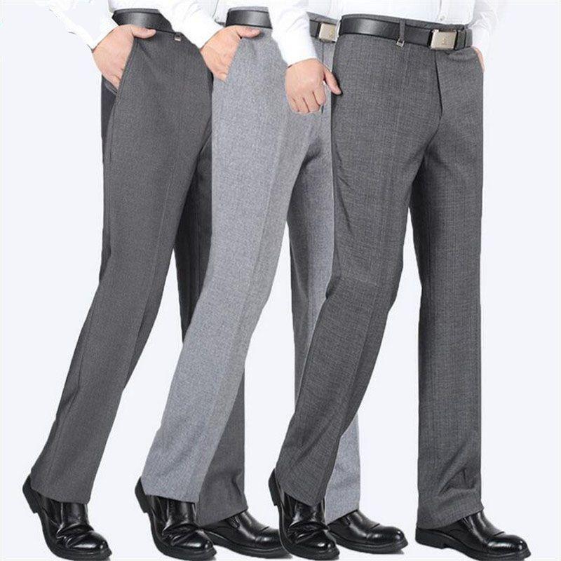 Covrlge Men s Suit Pants High Quality Men Dress Pants Silk Trousers  Straight Business Mens Formal Pants 1d4a9d157c14