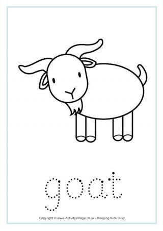 Goat Tracing Worksheet China Pinterest Tracing Worksheets