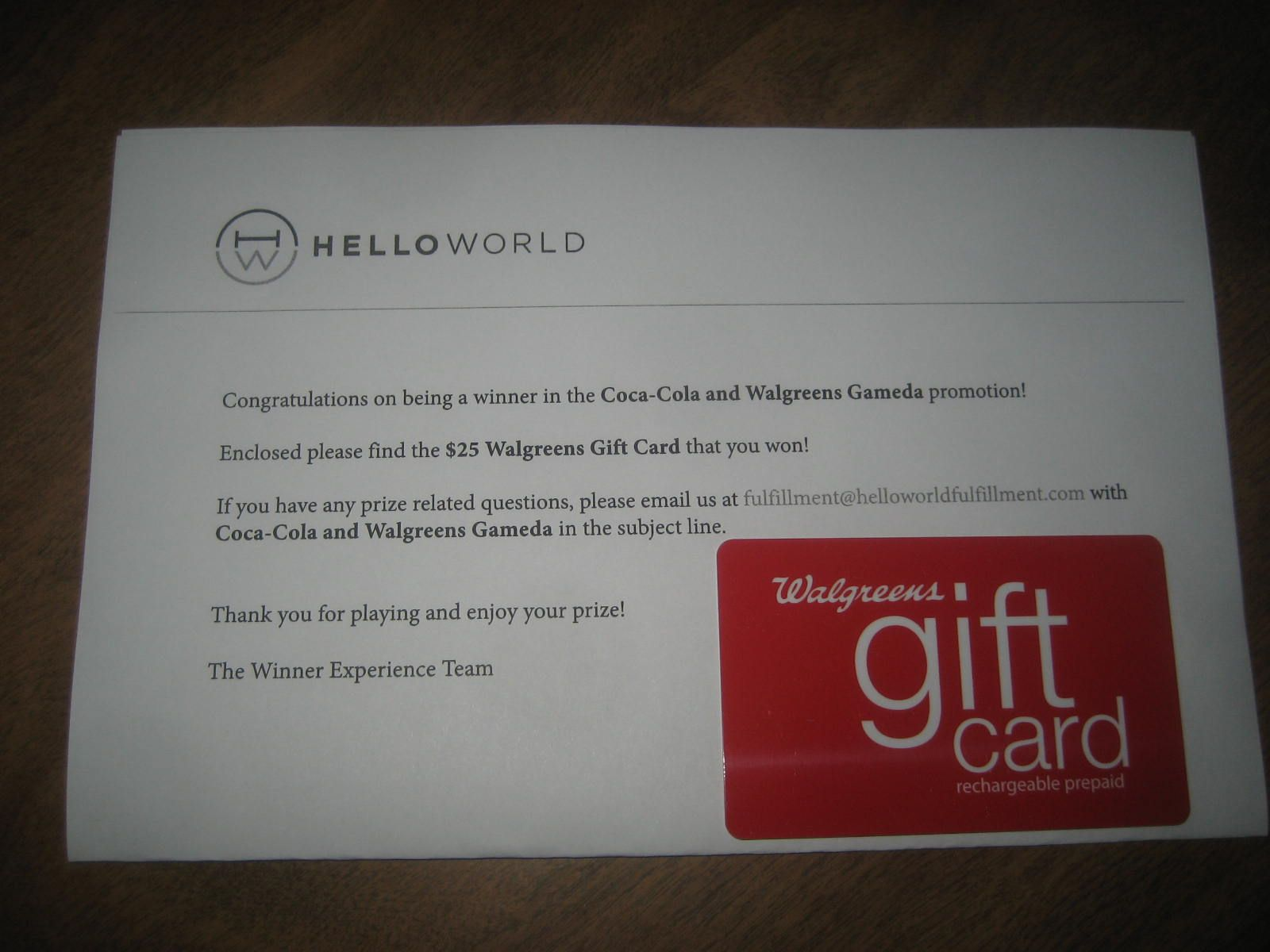 Walgreens $25 gift card | Ron's sweepstakes wins | Pinterest