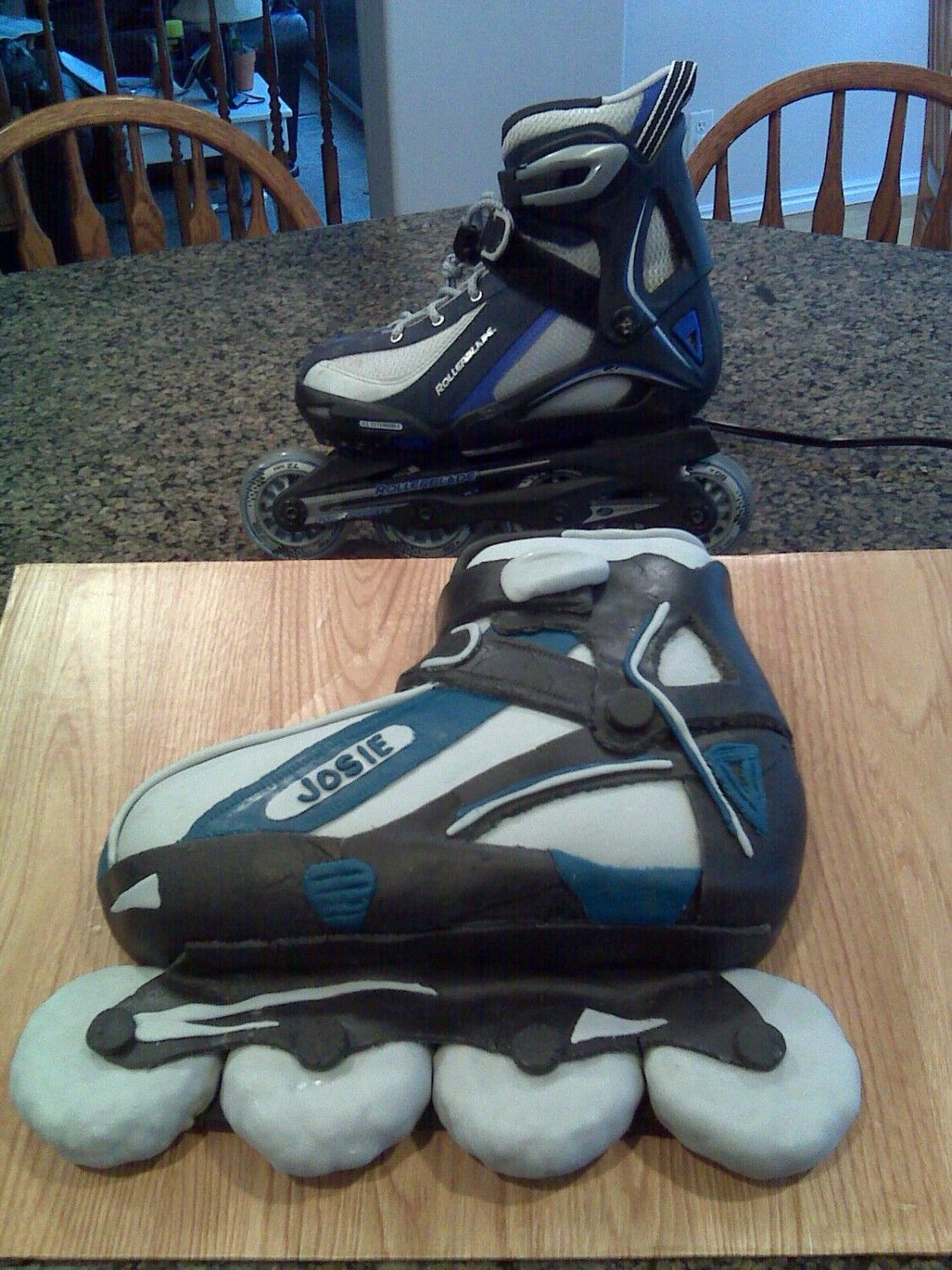 Roller Blade Birthday Cake My Dd Picked A Rollerblade Cake To Go With Her Party At The Skate Ce Roller Skate Birthday Roller Skate Birthday Party Rollerblade