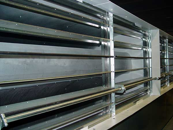Rectangular Ventilation Silencers with attached Flow Control Dampers - dB Noise Reduction