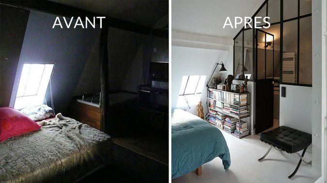 Avant / après : aménager une chambre d\'amis sous les combles | Avant ...