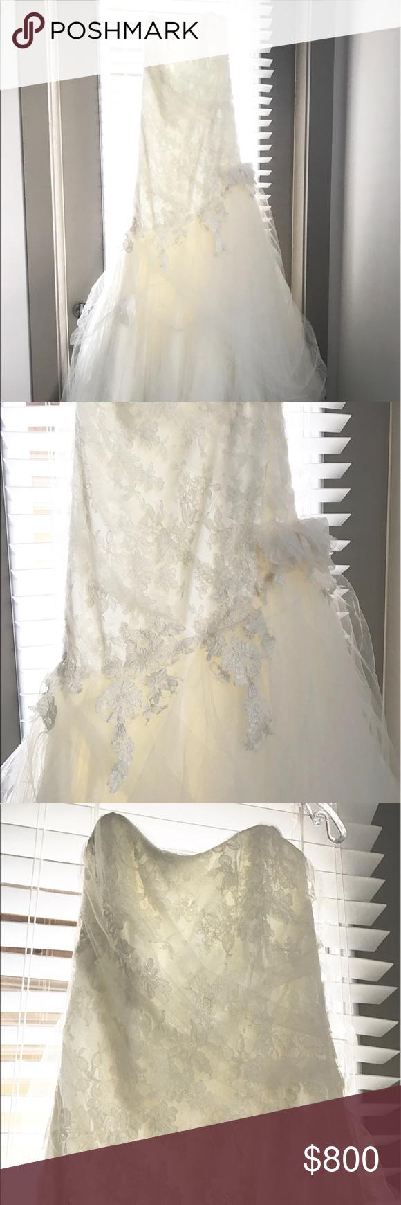 Marisa wedding dress  Marisa Lace Tulle Mermaid Wedding Gown Size   Size  Mermaid