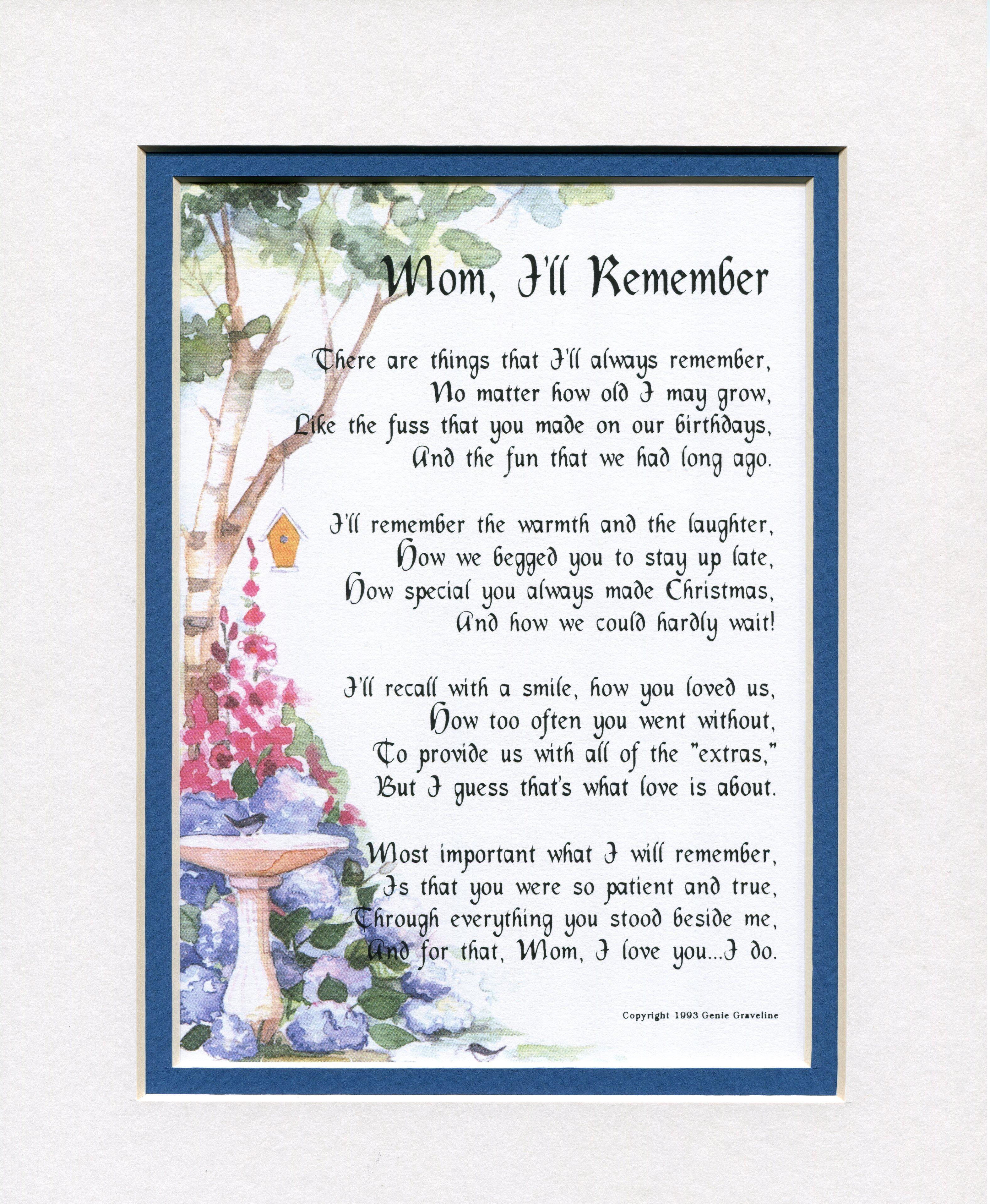 Remember Mom Poems 7