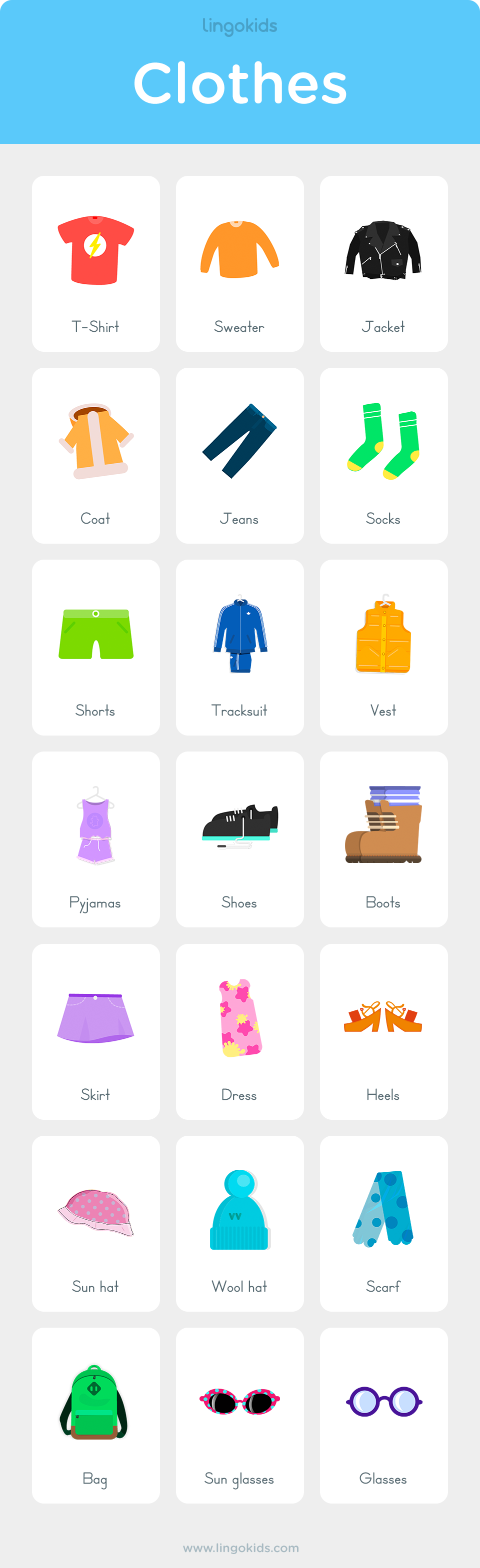 Clothes Vocabulary In English English Lessons For Kids Learning English For Kids Teach English To Kids [ 3138 x 960 Pixel ]