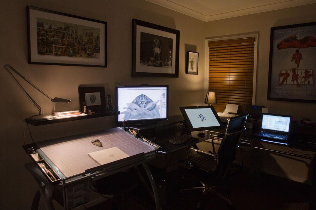 Darren yeow workplace 2 art studio room home studio