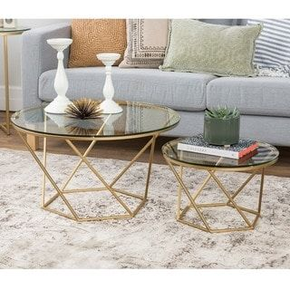 Shop for Geometric Glass Nesting Coffee Tables Get free shipping at