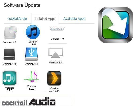 Cocktail Audio Pro X100 Apps Software update, App, Dsd