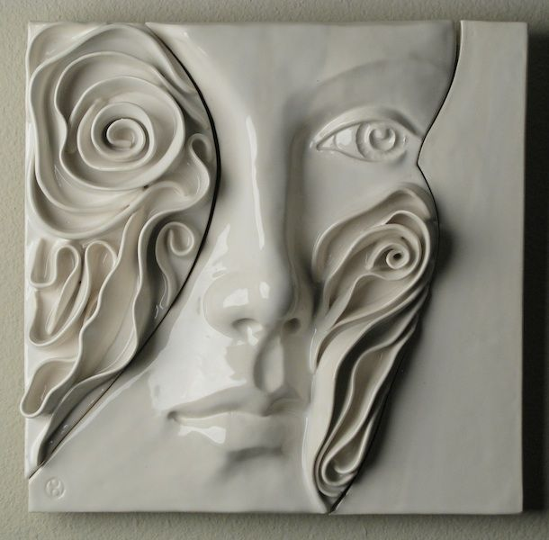christine l evans clay studio tour ceramics relief. Black Bedroom Furniture Sets. Home Design Ideas