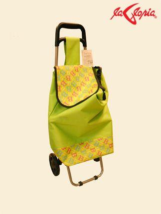 """Haz las compras con esta práctica bolsa impermeable y con ruedas para que la carga se haga ligera  Busca la tuya en 4to.Piso """"Hogar"""""""