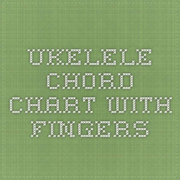 Ukelele Chord Chart With Fingers Uke Pinterest