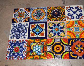 100 mexican tile talavera 2 x 2 pinterest alfombras Pintar azulejos a mano