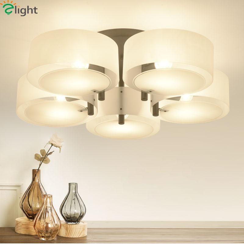 Modern Simple Mult Rings Led Ceiling Chandeliers Lamp Lustre Acrylic