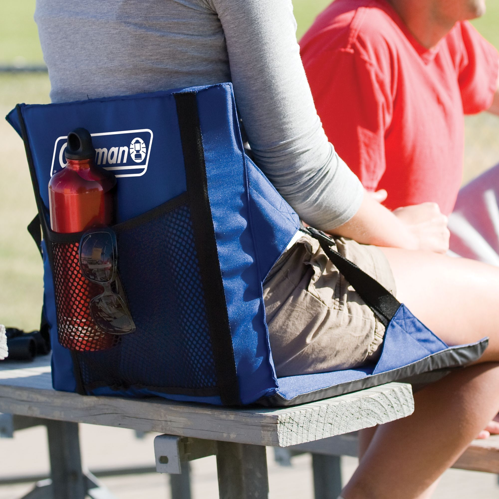 Bring comfort with you to the game or concert when you