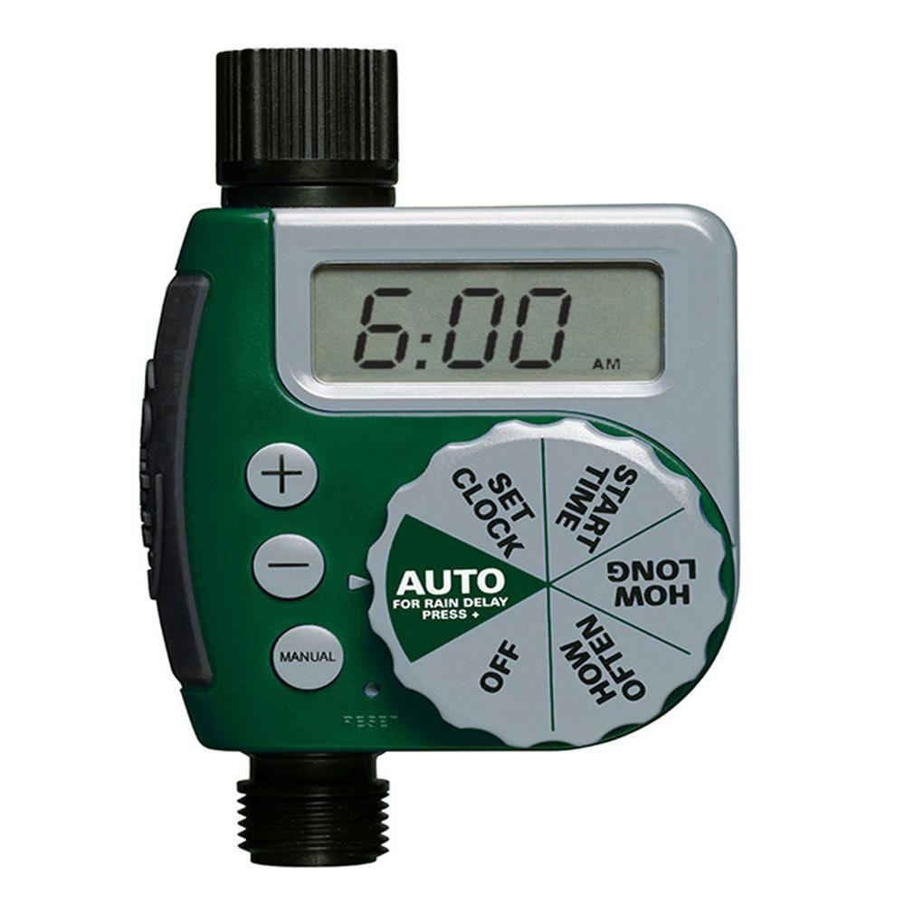 Orbit 1 Outlet Hose Faucet Timer 62061n The Home Depot In 2021 Water Timer Sprinkler Timer Irrigation Controller