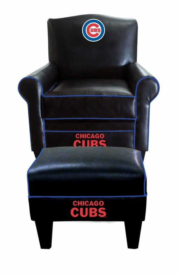 Pleasant Chicago Cubs Mlb Game Time Chair Ottoman Footstool Ocoug Best Dining Table And Chair Ideas Images Ocougorg