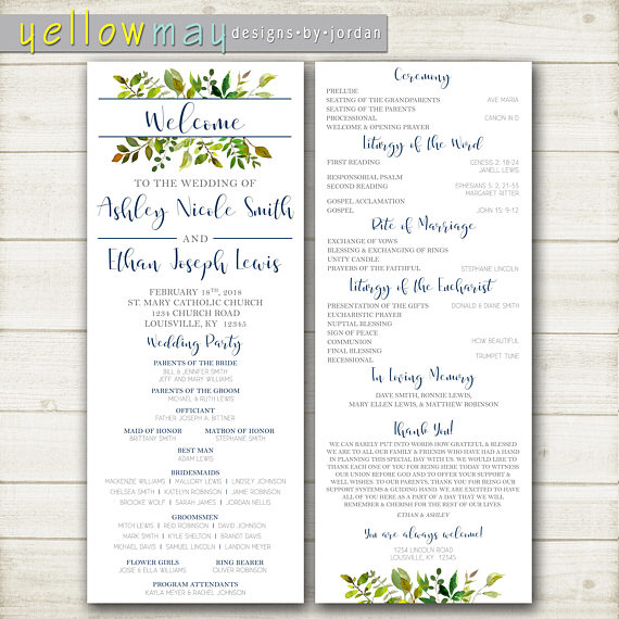 Ceremony Programs Wedding Planning On A Budget Event Catholic