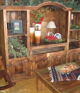 Rustic Entertainment Center Wow what a great piece This rustic