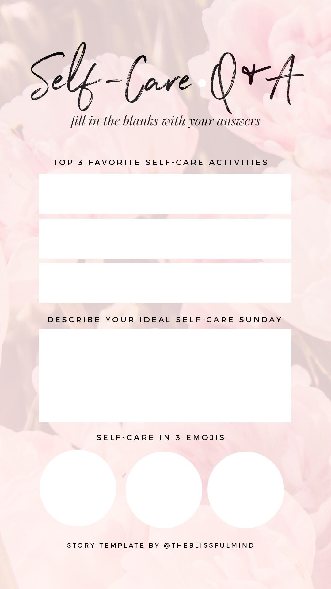 your self care habits on Instagram with this story