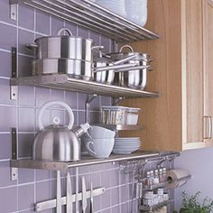 Stainless steel drainage shelf Ohana renno Pinterest Shelves