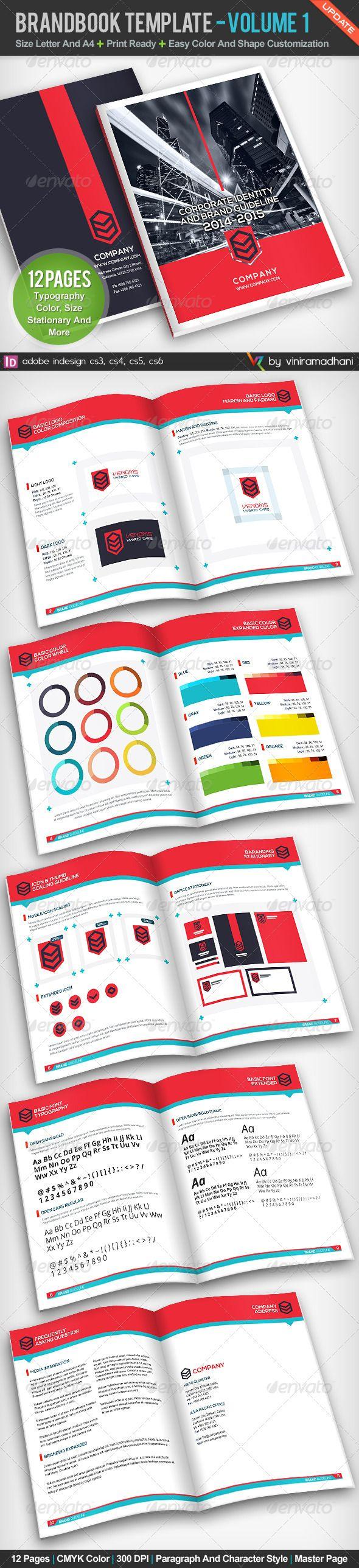BrandBook Template | Volume 1 #GraphicRiver BrandBook Template ...