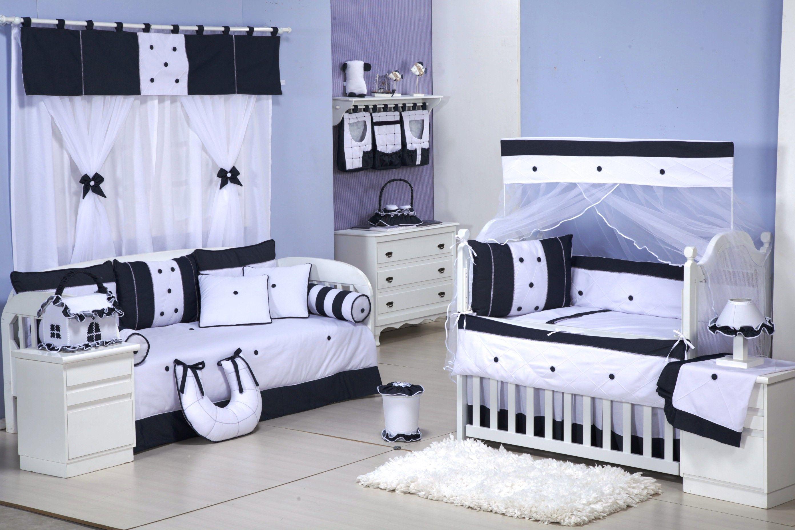 3cb234c521 Mega Loja do Bebê - Quarto Completo Jeans - 36 peças   150 Fios Anti  Alérgico