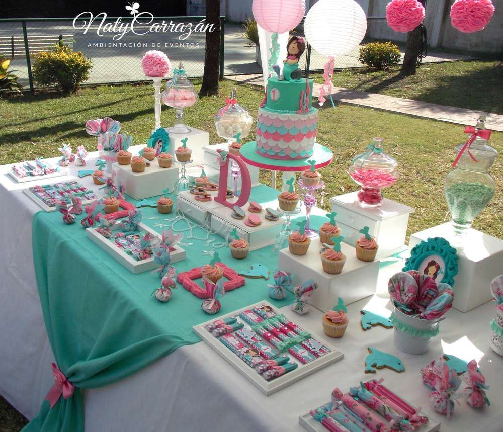 little mermaid birthday party ideas in 2018 | haileys is one