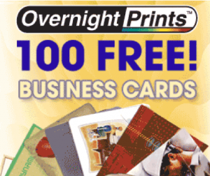 Overnight Prints S Code High Quality Business Cardsovernight