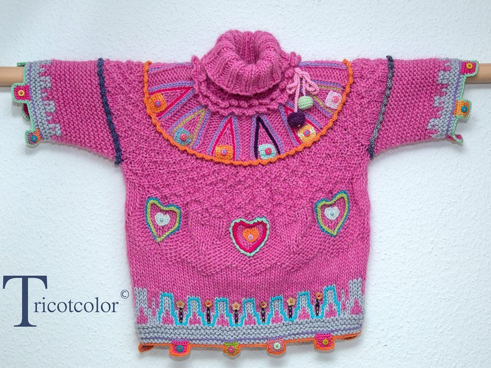 Kinderpulli auf Tricotcolor   https://www.facebook.com/319954264689758/photos/a.736128379739009.1073741825.319954264689758/924912990860546/?type=1&theater
