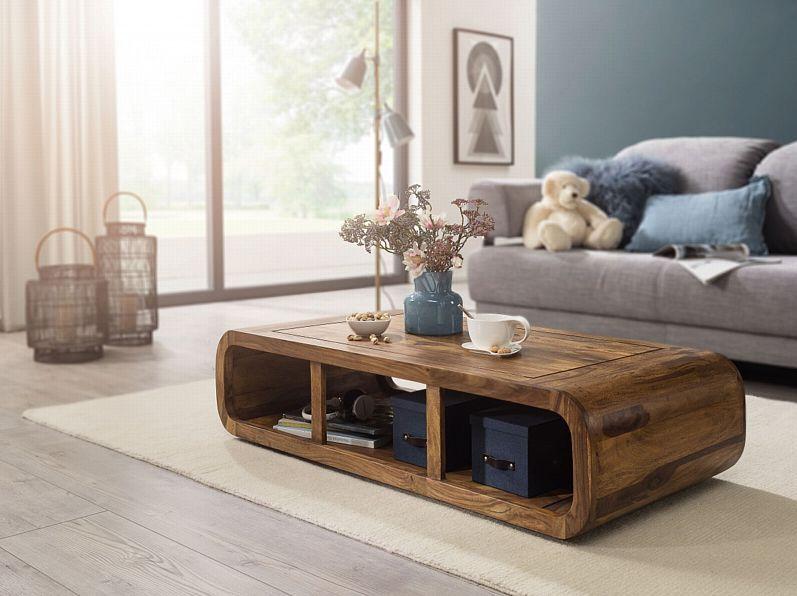 Finebuy Sheesham Couchtisch 120x60x30 Cm Ablage Massivholz Wohnzimmertisch Neu Kaufen Bei Hood De Wohnzimmertisch Couchtisch Couchtische