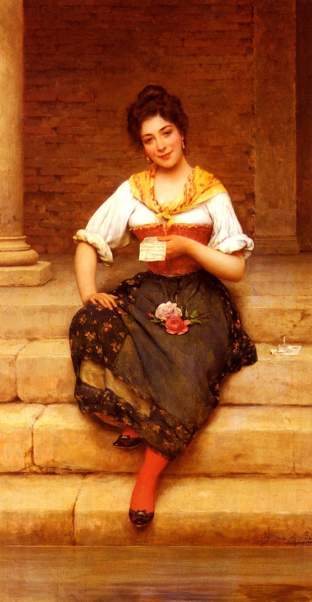 The Athenaeum The Love Letter Eugene de Blaas 1902 oil on