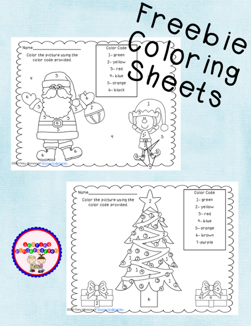 Free! Christmas color by number sheets! | Kindergarten - Christmas ...