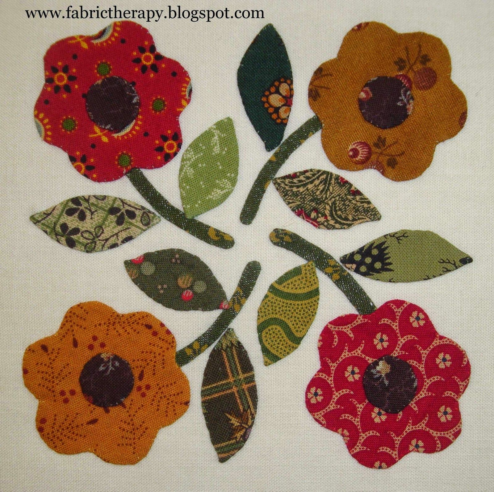I have managed to finish 8 more little hand applique blocks from