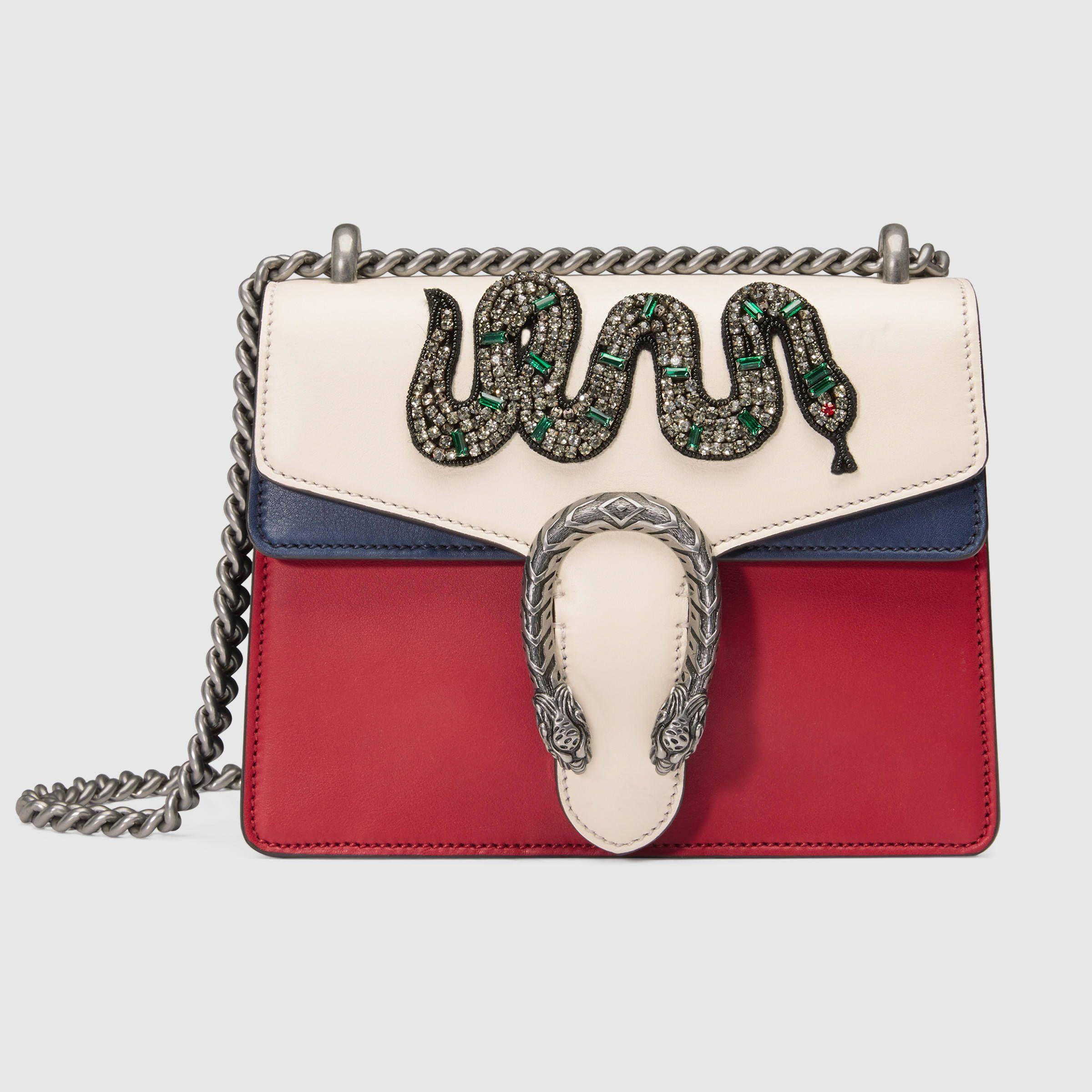 15ccd08ec8eac1 Dionysus embroidered leather mini bag   Wishlist   Gucci shoulder ...