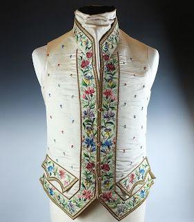 Regency era gentlemen's waistcoat, c. 1800.