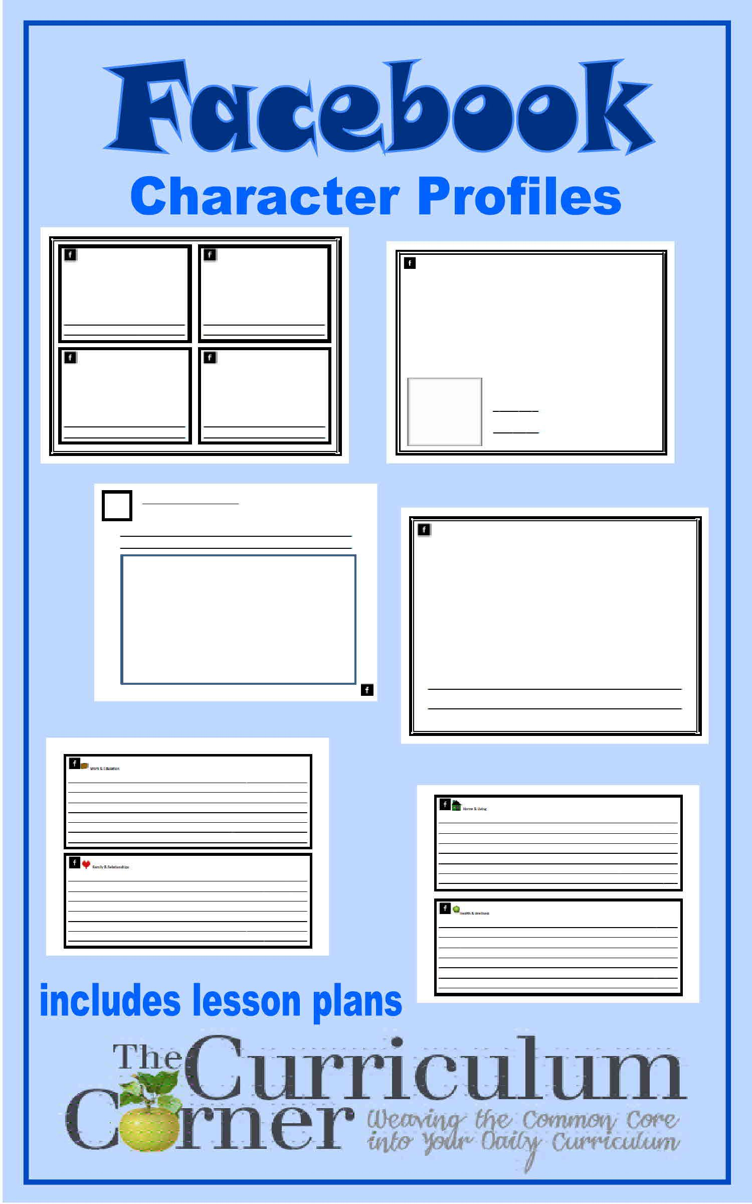 character facebook profile character profile curriculum and essay